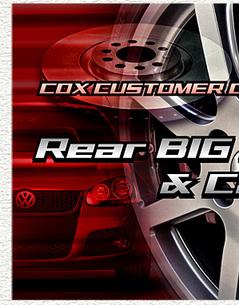 COX ビッグリアローター & キャリパーキット