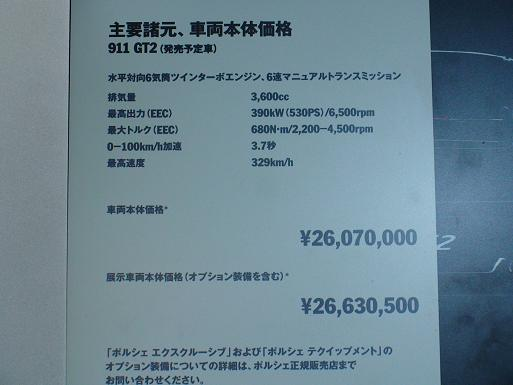 ポルシェ911GT2の価格